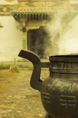 Smoking cauldron in Kharkhorin temple