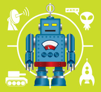 Robot and related icon set