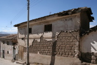 Decaying facade, Ayacucho, Peru