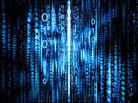Blue binary matrix