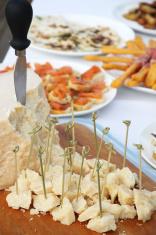 Parmesan cheese at a buffet