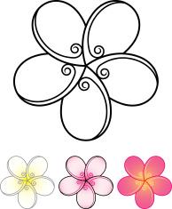 Plumeria stylized