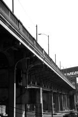 Black and white University Bridge in Seattle