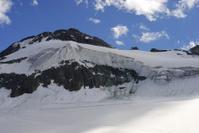 Mountain snow in Saas Fee