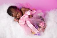 Precious Newborn African American Baby