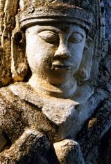Stone buddha in Bagan, Burma
