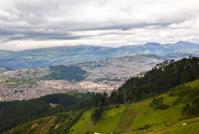 View above Quito