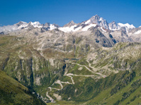 View of Grimsel high mountain pass, Switzerland