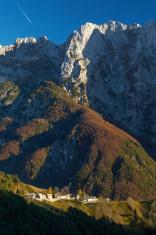 Remote village in Slovenian Alps