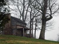 Old Cabin in the Fog