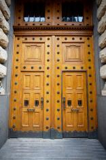 Big wooden doors