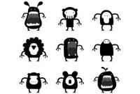 Nine black creatures