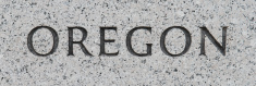 Oregon inscribed in marble