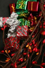 close up shot of christmas presents