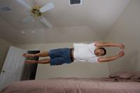 Flying in the bedroom