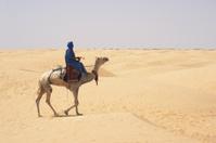 Traveling through desert
