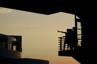 Women on balcony
