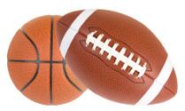 Football and Basketball Isolated