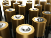 Batteries close up