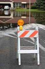 flooded road blocked