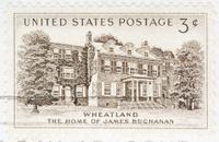 Vintage 1954 US Postage Stamp Wheatland James buchanan