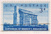 Vintage 1956 US Postage Stamp Booker T Washington