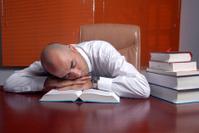 to sleep over one's work