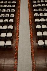 Wedding isle overhead