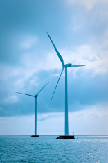 Wind mills at sea