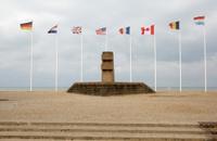 Memorial to WW2 soldiers Juno Beach Normandy