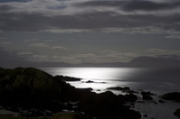 Moonlit Atlantic ocean at Ring of Kerry Ireland