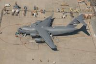 C17 USAF Cargo Plane on The Tarmac