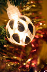 Christmas tree bauble light