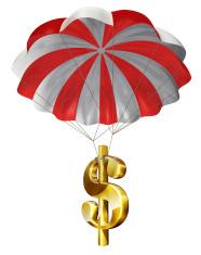 Dollar Sign and Parachute