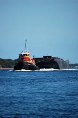 Tugboat Pulling Barge