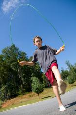 Boy Jumping Rope