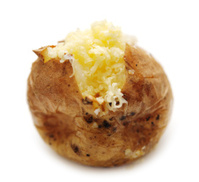 Baked Potato with Grated cheddar cheese