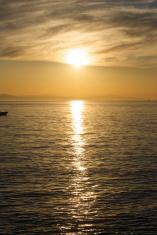 Sunset on Pacific ocean