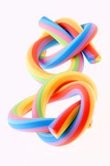 Two rainbow rubber eraser