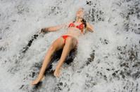 girl in white water