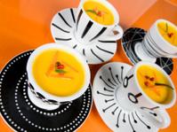 Pumpkin soup in espresso cups
