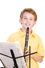 Boy Practicing Clarinet