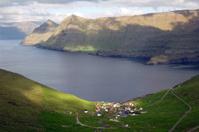 Landscape near Funningur Faroe Islands
