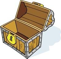 Treasure Chest - Empty, Cartoon