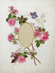 Vintage flower frame (XXXL)