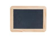Blank blackboard with wooden frame