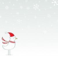 Bird in snow - winter scene