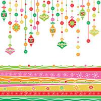 Whimsical Retro Christmas Ornaments