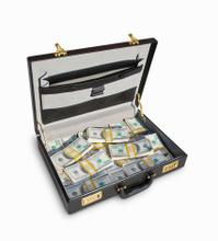 Briefcase filled US Money