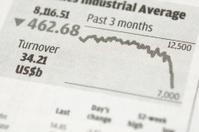 Index chart on newspaper